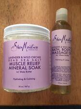 SheaMoisture Lavender/Wild Orchid Bath, Body/Massage Oil+Muscle Relief Soak