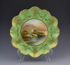 Stunning Aynsley Cabinet Plated Signed F. Micklewright Loch Leven Castle Green