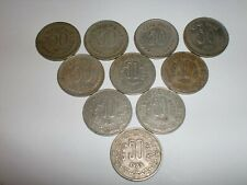 "-INDIA COINS LOT- 10 OLD  "" 50 PAISE "" COINS -1972 - 1988- 3 DESIGNS - RARE#11AP"