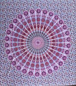 Beautiful Harmony Pink Cotton Mandala  Large Bohemian Throw