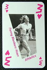 1 x playing card London 2012 Olympic Legends Fanny Blankers-Koen Athletics 3H