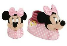 NWT-Kids Girls Disney Minnie Mouse Pink Polka Dot Plush Sock Slippers-size 11/12