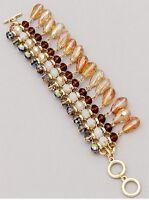 Brown and Multi Beaded Bracelet