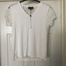 Women's Top White With Lace Back Pied A Terre Size 14 New Without Tags