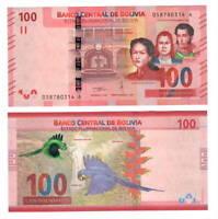 BOLIVIA UNC 100 Bolivianos Banknote Series A (2018) P-251 Paper Money