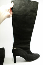 Vintage Rosina Ferragamo Schiavone Black Suede Tall Boots Made in Spain Size 9Aa