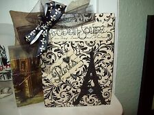 Paris wall decor cream black large Eiffel Tower sign Shabby French chic cottage