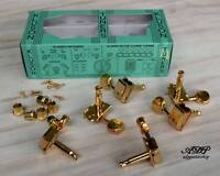 Mecaniques Vintage Kluson Tele Strat 6 Pegs inLine Gold MC6LG