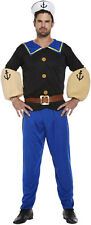 Fancy Dress Sailor Navy Captain Popeye Style Pirate One Size Costume U37 098