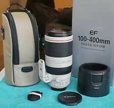 Canon EF 100-400mm f/4.5-5.6 L IS II USM ZOOM LENS - VERY SHARP & LIGHTLY USED!!