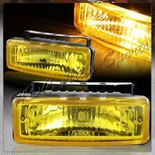 "5"" x 1.75"" Rectangle Chrome Housing / Yellow Lens Fog Lights Lamps Universal"