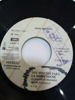 "Iron Maiden ‎Dos Minutos Para La Media Noche Vinyl, 7"", 45 RPM, Single Ecuador"