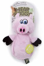 GODOG SHERPA FLATTIE PINK PIG LARGE CHEW GUARD TOY PLUSH. FREE SHIP TO THE USA
