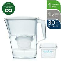 Aqua Optima Liscia Evolve+ Water Filter Jug 2.4L with 1x Filter Cartridge, White