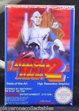 "Mega Man 2 Nintendo Game Box 2"" x 3"" Fridge / Locker Magnet. NES"