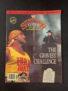 WWF Wrestling Program Survivor Series 1991 Hulk Hogan Undertaker Sid Snake Piper