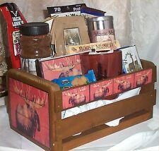 Moose Wood Crate Gift Basket Lodge Fun Gift Men Gifts Hunters Gifts