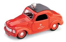 BRUMM R24 FIAT 500C TOPOLINO diecast model fire men car red body black roof 1:43