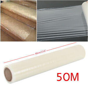 50M Carpet Floor Protector Self Adhesive Clear Roll Protection Cover Dust Film