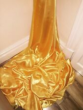 "5 MTR YELLOW GOLD SATIN LINING FABRIC...58"" WIDE"