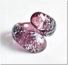 Bague véritable verre murano fait main T 51 lampwork ring bijou mode été cadeau