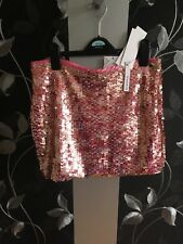 Pink neon sequinned Mini Skirt by glamorous Size 10