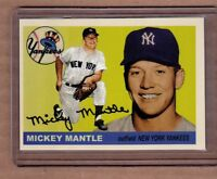 Mickey Mantle New York Yankees custom card by Bob Lemke 1955 style #203  🔥
