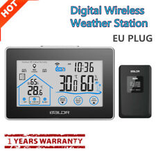 Wireless Weather Station Humidity Temperature Sensor Hygrometer Thermometer EU