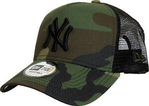 NY Yankees New Era Woodland Camo Clean Trucker Cap