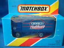 MATCHBOX MB20 - VOLVO CONTAINER TRUCK - CROOKES HEALTHCARE -