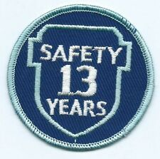 Greyhound Bus, driver patch, 13 Safety Years. 3 inch diameter