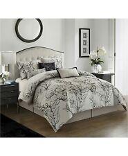Nanshing Georgia 7-Pc Classic Floral Jacquard Comforter Set - KING - Taupe Black