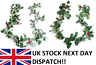 175cm Christmas Garland Ivy Holly & Berries Vine Fern Leaf Plants Foliage Flower