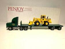 Pen Joy Collector's Club 'Mack Tractor & Flat bed Trailer w/John Deere Loader
