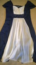 Size 12 dress Teatro navy blue special occasion party