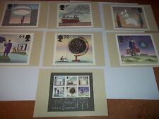 World of Invention 1 March 2007 PHQ  296 set Royal Mail Stamp Card Series MINT