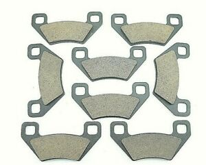 Front & Rear Brake Pads for 2011 2012 2013 2014 Arctic Cat Prowler HDX 700