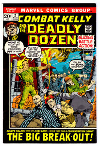 COMBAT KELLY AND THE DEADLY DOZEN #2 in VF a 1972 Marvel Bronze Age comic