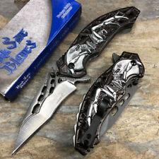 Dark Side Blades Gray Alien Skull Survival Camping Rescue Pocket Knife