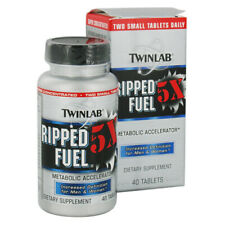 Twinlab Ripped Fuel 5X Fat Burner Weight Loss Energy - 40 tablets