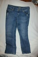 Simply Vera Wang Womens straight Mid Rise Jeans Sz 6 distressed EUC