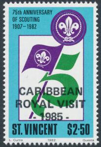 St Vincent 893 MNH Boy Scouts, Royal Visit o/p