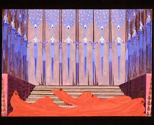 ERTÉ (1892-1990) FINE RUSSIAN GOUACHE ON BOARD STAGE DESIGN - WOMAN & DEVILS