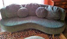 Couch Sofa Rundsofa Rundcouch 3-Sitzer Microfaser Recamiere Sessel Hocker