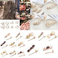 Pearl Shell Geometric Hair Clip Slide Hair Pin Bobby Pin Barrette Hair Accessory