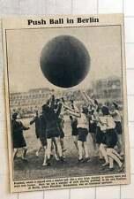 1923 Girls Playing Push Ball In The New Stadium At Berlin Pres Hindenburg Specta