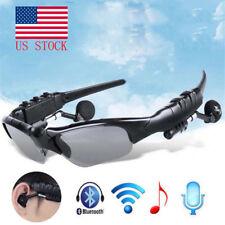 Bluetooth Smart Sunglasses Glasses Headphone Music Headset Stereo Micphone USA