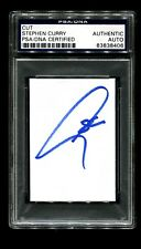 SIGNED BUSINESS CARD OF STEPHEN CURRY, MVP, NATIONAL CHAMP, ALL STAR
