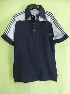 Polo Adidas vintage années 80 Bleu Tennis Made in France - 1 / XS