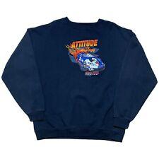 Big Dogs Racing Attitude to Burn Crewneck Sweatshirt Black XL Embroidered NWOT